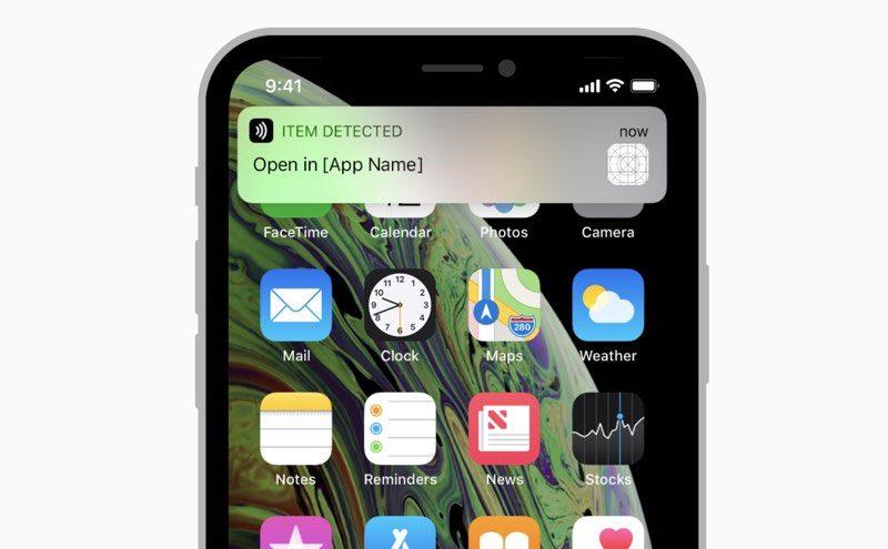 الايفون 2018 يدعم قراءه علامات NFC بدون الحاجه الى تطبيق