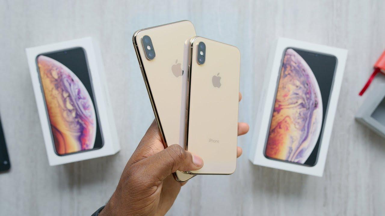 فتح علبة الايفون XS و XS Max اللون الذهبي