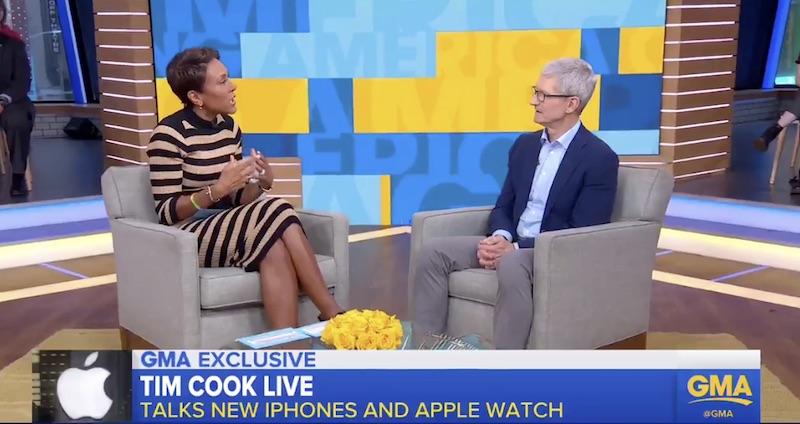 """تيم كوك عن الايفون XS: يريد الناس الهاتف الأكثر إبداعًا و """"ليس رخيصًا القيام بذلك"""""""