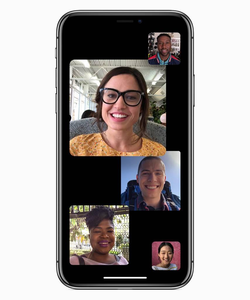 كيفية عمل مكالمة جماعية في الفيس تايم على iOS 12