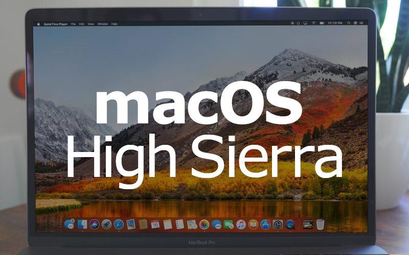 اصدار أبل تحديث اضافي macOS High Sierra 10.13.6 لاجهزه ماك بوك برو 2018