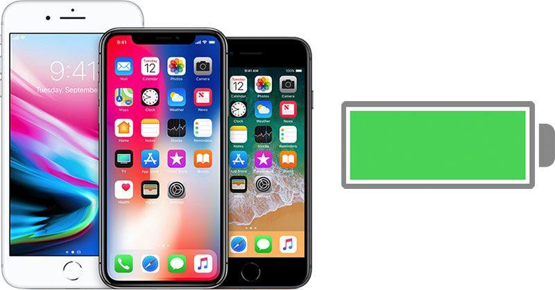 يضيف iOS 12.1 ميزة إدارة البطارية إلى الايفون 8 و الايفون X