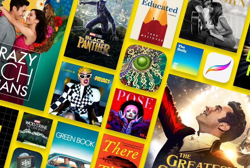 شاركت ابل بأبرز التطبيقات والألعاب والموسيقى والبرامج التلفزيونية والأفلام في 2018