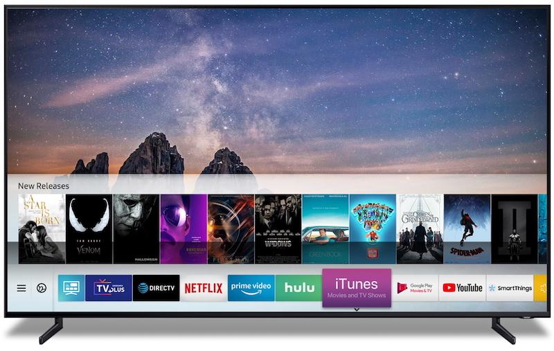 تلفزيونات سامسونج الذكية ستدعم محتوى فيديو iTunes و AirPlay 2